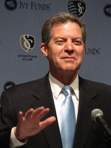 Gov. Sam Brownback said Wyandotte County and the state of Kansas could see an economic effect exceeding $1 billion over 30 years with the new U.S. Soccer National Training Center in Kansas City, Kan. (Staff photo)