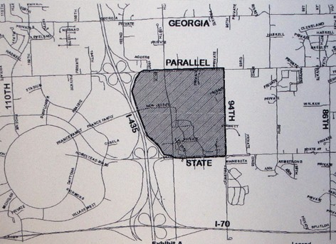 Unified Government agenda documents showed this sketch of the STAR bond district for the national soccer training facility area.