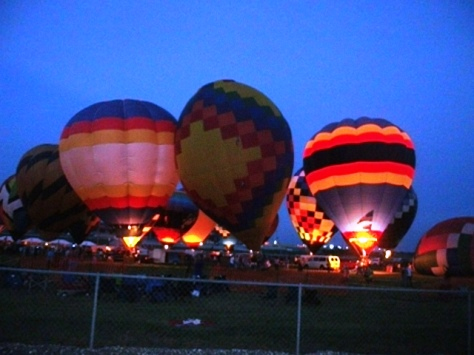 The Midwest Balloon Festival this past weekend featured a balloon glow. (Photo by William Crum)