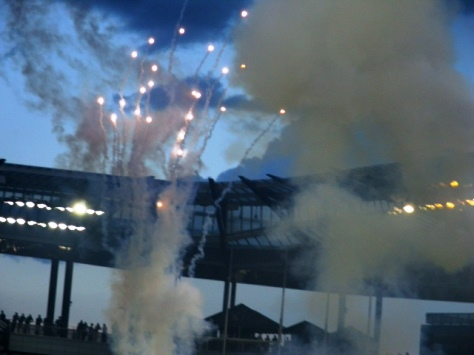 Fireworks at Friday's Sporting KC match. (Photo by William Crum)