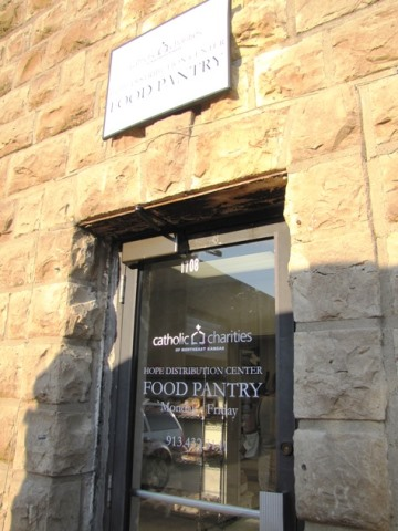 A new food pantry is located to the east of the new Hope Distribution Center in Kansas City, Kan. (Staff photo)