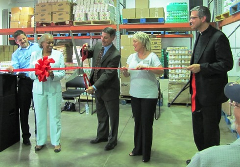 The ribbon was cut for the new Hope Distribution Center, 1708 Steele Road, on Thursday evening. (Staff photo)