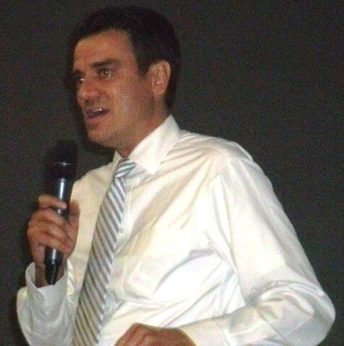 U.S. Rep. Kevin Yoder, R-3rd Dist., addressed the meeting of the Fairfax Industrial Association today in Kansas City, Kan. (Photo by William Crum)