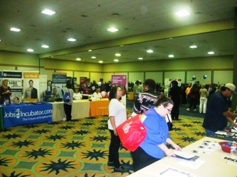 Employers and job seekers came together at a job fair today at the Reardon Convention Center, Kansas City, Kan. (Photo by William Crum)