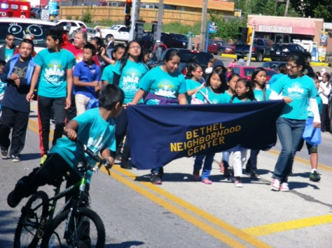 Bethel Neighborhood Center participated in the Central Avenue parade today. (Photo by William Crum)
