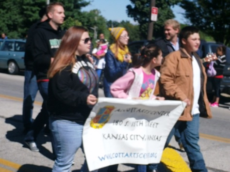 Alcott Arts Center participated in the Central Avenue parade today. (Photo by William Crum)