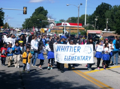 Whittier Elementary School participated in the Central Avenue parade today. (Photo by William Crum)