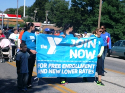 The YMCA participated in the Central Avenue parade today. (Photo by William Crum)