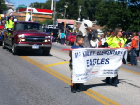 McKinley Elementary School participated in the Central Avenue parade today. (Photo by William Crum)