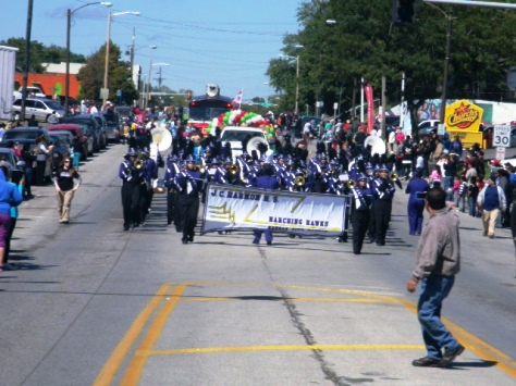 Harmon High School participated in the Central Avenue parade today. (Photo by William Crum)