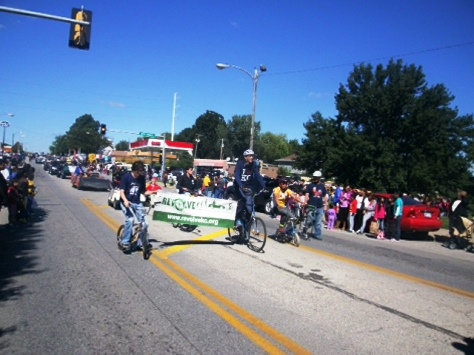 Revolve KC participated in the Central Avenue parade today. (Photo by William Crum)