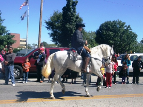 The Central Avenue parade was today in Kansas City, Kan. (Photo by William Crum)