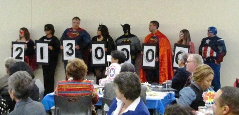 """The United Way of Wyandotte County launched its """"Live Heroic, Live United"""" annual campaign today with a goal of $2,130,000. (Staff photo)"""