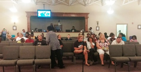 Students, parents and community members met to talk about their concerns about Washington High School at a meeting Tuesday night at Faith City, 51st and Leavenworth Road.