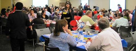 Hundreds of people attended the campaign launch for the United Way of Wyandotte County today at Kansas City Kansas Community College Technical Education Center, 6565 State Ave. (Staff photo)