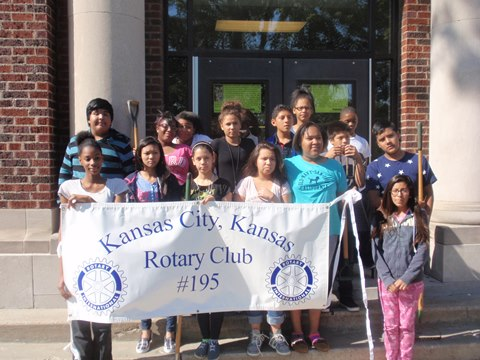 Northwest Middle High School participated in a Rotary Club beautification project recently. (Photo from Rotary Club)