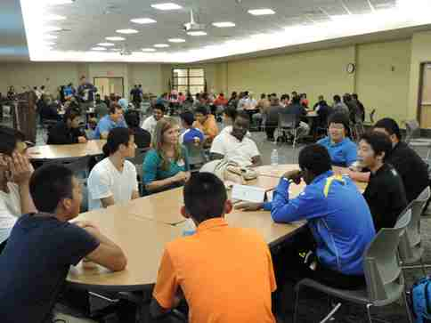 Students from five high schools in Kansas City, Kan. and Leavenworth had the opportunity to speak with manufacturing professionals who talked about their jobs during the 2014 Manufacturing Day event at KCKCC-TEC. (Photo from KCKCC)