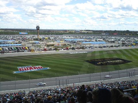 Racing action from the Sprint Cup series Sunday at Kansas Speedway in Kansas City, Kan. (Fan photo)