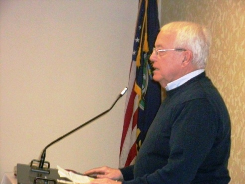 Former State Rep. Bill Reardon urged Democrats to work harder on turnout in future elections. (Photo by William Crum)