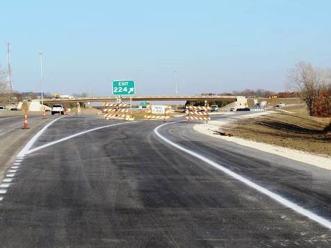 The  I-70 to K-7 ramp in Bonner Springs will open Friday morning, according to KDOT. (KDOT photo)