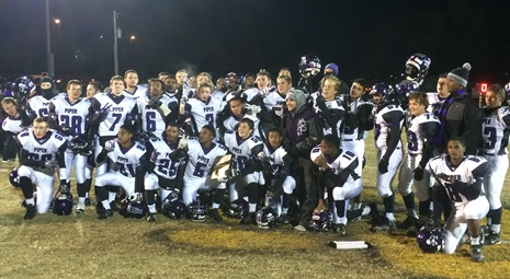 Piper High School's football team won the sectional championship with a 24-14 victory over Paola.  Piper now plays Bishop Miege on Nov. 21. (Piper photo)