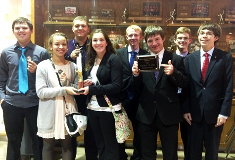 Piper debate team members won awards at a recent meet at Shawnee Mission Northwest. (Piper photo)