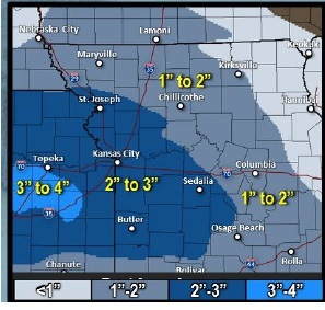 Accumulating snow. (National Weather Service graphic)