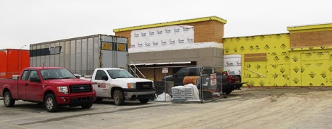 "The redevelopment of Wyandotte Plaza, including this view of the old grocery store area being transformed into a new Marshall's and PetSmart stores, is an example of the ""trickle back"" theory of economic development in Wyandotte County, according to one developer. (Staff file photo)"