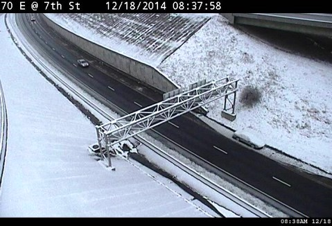 I-70 east at 7th Street in Kansas City, Kan., is seen in this KC Scout photo.