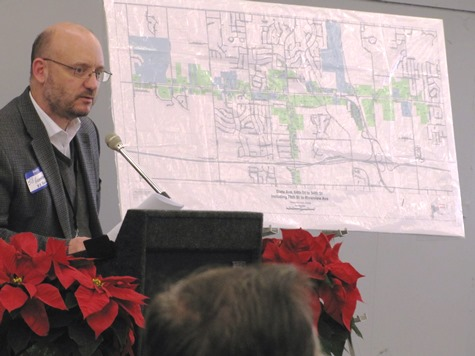 County Engineer Bill Heatherman said the State Avenue corridor was a $15.4 million project. (Staff photo by Mary Rupert)
