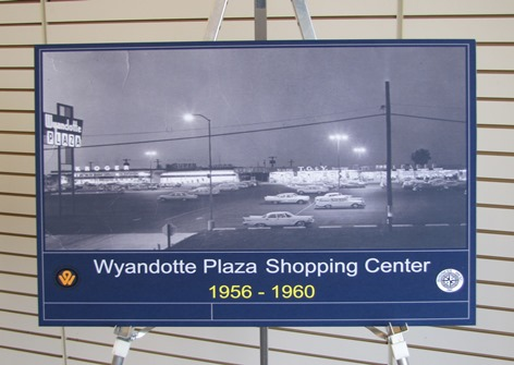When Wyandotte Plaza opened in the late 1950s and early 1960s, its main anchor was a Kroger store.