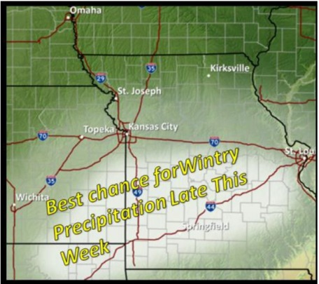 Chance for wintry precipitation. (National Weather Service graphic)
