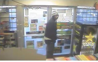 Police released this photo of a suspect in the robberies of convenience stores in Kansas City, Kan. (Photo from police)