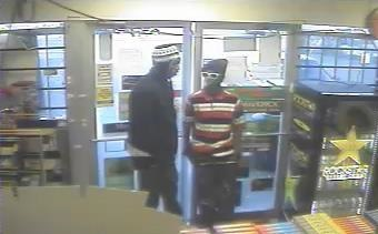 Police released this photo of suspects in the robberies of convenience stores in Kansas City, Kan. (Photo from police)