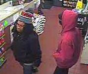 Police released this photo of suspects in convenience store robberies. (Photo from police)