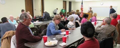The Leavenworth Road Association meeting Tuesday night was at the Eisenhower Recreation Center in Kansas City, Kan. (Staff photo by Mary Rupert)