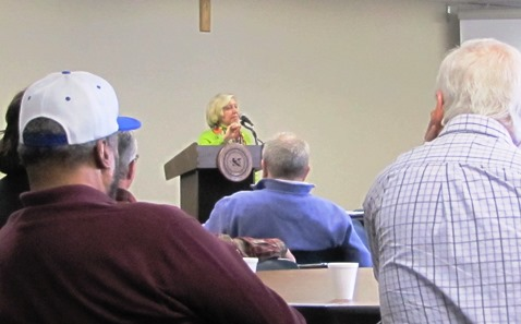 Sen. Pat Pettey, D-6th Dist., talked at the Wyandotte County Third Saturday Democratic Breakfast  about a flood of conservative legislation this year in the Kansas Legislature. (Staff photo)