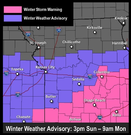 Winter weather advisory (National Weather Service graphic)