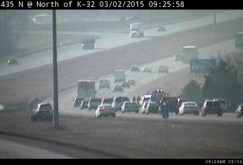 KC Scout has reported an accident on I-435 north near K-32. (KC Scout photo)