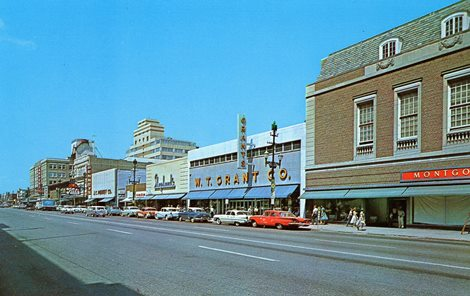Minnesota Avenue in downtown Kansas City, Kan., in its heyday included the former Katz building, on the left. (Photo courtesy of Wyandotte County Museum)