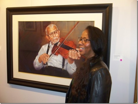 Ruthie Ingram's art exhibit opened Friday at The Gallery at KCKCC. (Photo by Karen Hernandez)