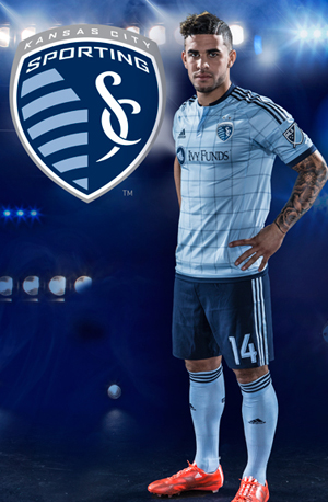 Sporting KC unveiled a jersey on Wednesday for the 2015 season. (Sporting KC photo)