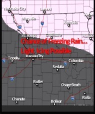 A chance of freezing rain and light icing is in the forecast tonight north of the Kansas City area. (National Weather Service graphic)