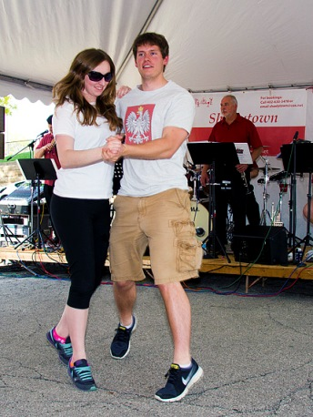 Dancing is a part of the annual Polski Day event. (Photo by Kathy Hanis)