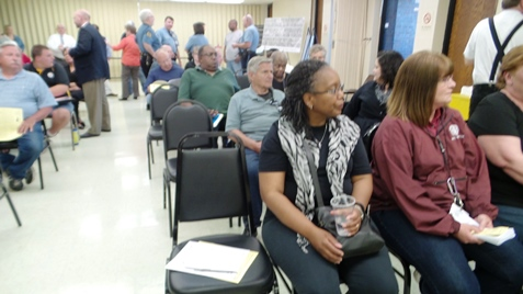 An 8th District Town Hall meeting was held Wednesday night at Eisenhower Community Center. (Photo by Lou Braswell)
