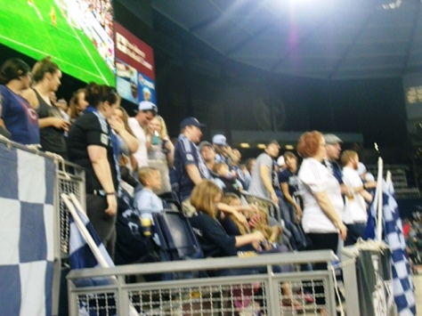 Local fans enjoyed Sporting KC's 4-0 win over Dallas on Friday night at Sporting Park in Kansas City, Kan. (Photo by William Crum)