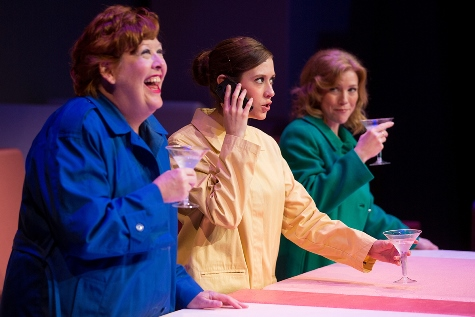"A musical comedy about motherhood, ""Mother Freaking Hood,"" is now playing at the Goppert Theater in Kansas City, Mo. Performing in the play were Nancy Nail, Sara Carolynn Kennedy and Jennifer Mays. The director of the play is Heidi Van, who grew up in Wyandotte County. (Photo courtesy of Moonshine Variety Company)"