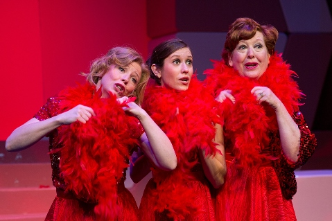 "A musical comedy about motherhood, ""Mother Freaking Hood,"" is now playing at the Goppert Theater in Kansas City, Mo. Performing in the play were Jennifer Mays, Sara Carolynn Kennedy and Nancy Nail. The director of the play is Heidi Van, who grew up in Wyandotte County. (Photo courtesy of Moonshine Variety Company)"