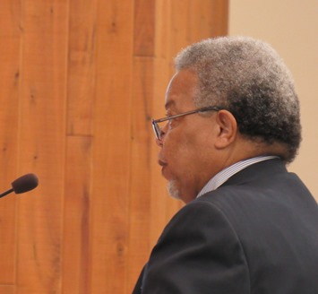 The Rev. Jimmie Banks made a presentation of recommendations of the Mayor's Public Safety Task Force during Thursday's UG meeting. (Staff photo)