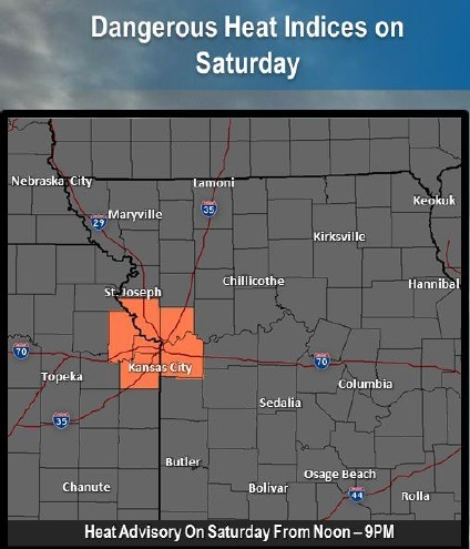 Dangerous heat is in Saturday's forecast. (National Weather Service graphic)